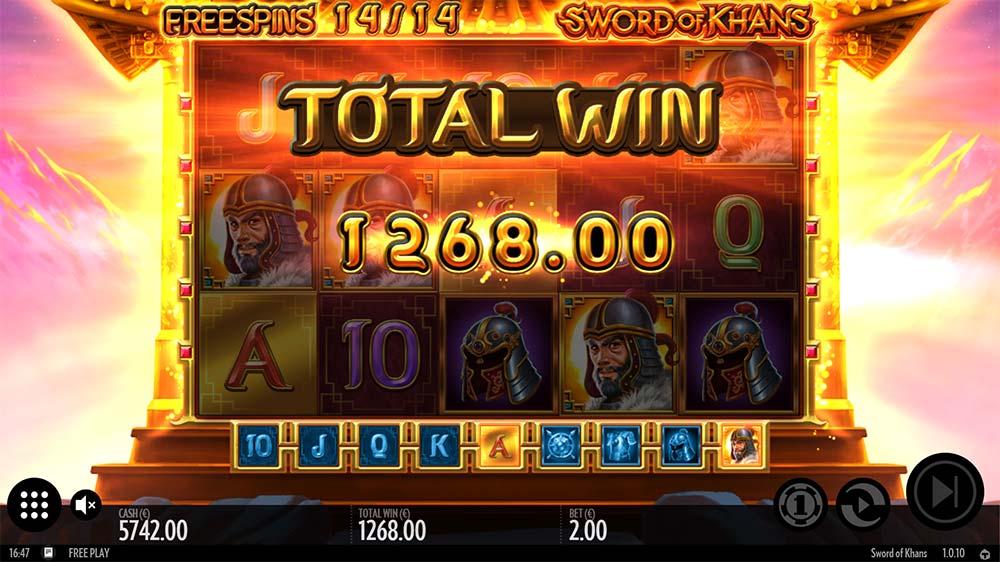 Sword of Khans Slot - Bonus End