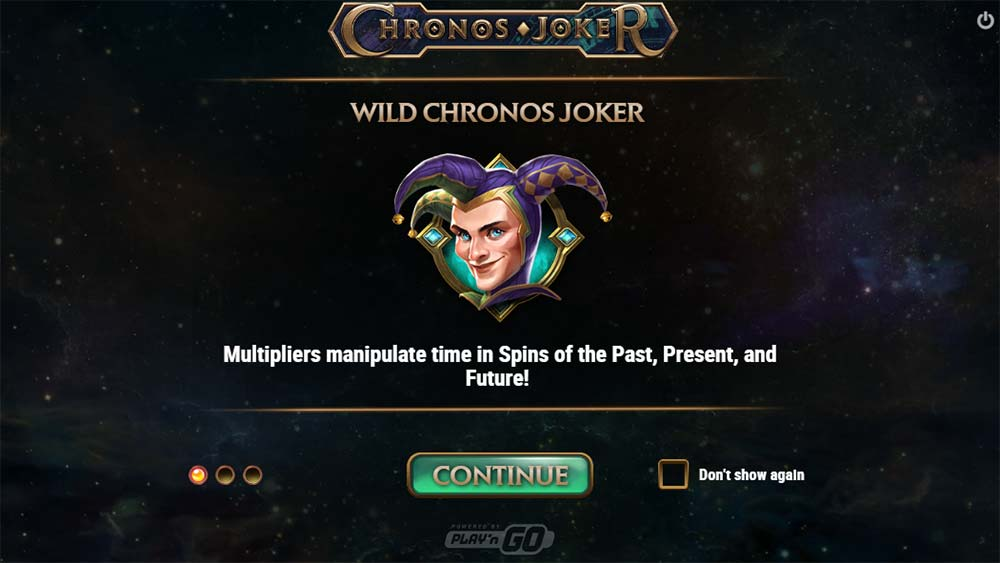 Chronos Joker Slot - Intro Screen