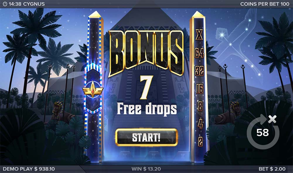 Cygnus Slot - Bonus Start