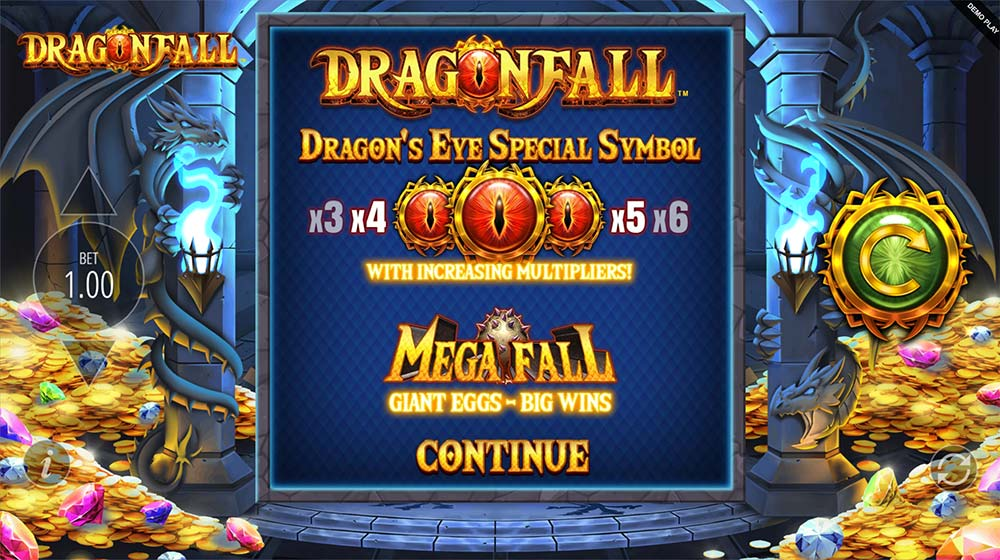 Dragonfall Slot - Intro Screen
