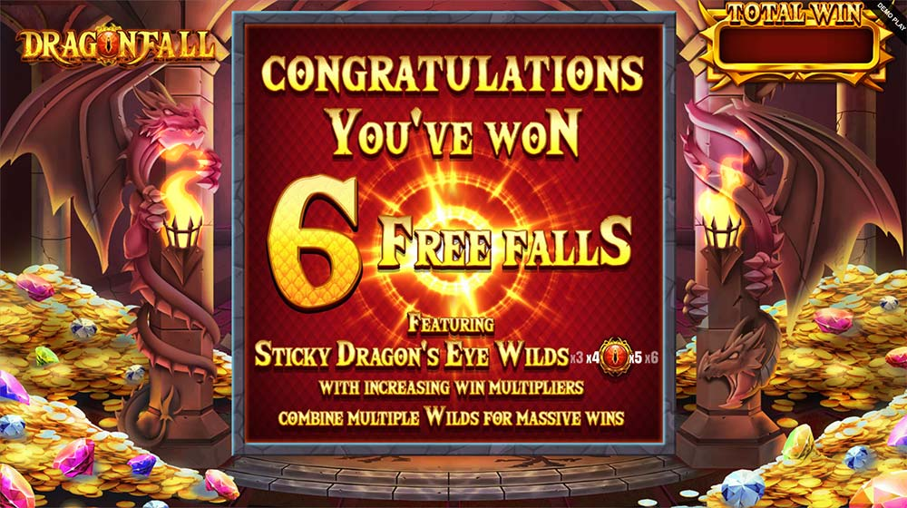Dragonfall Slot - Free Spins