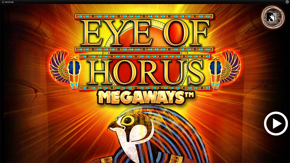 Eye of Horus Megaways Slot - Intro Screen