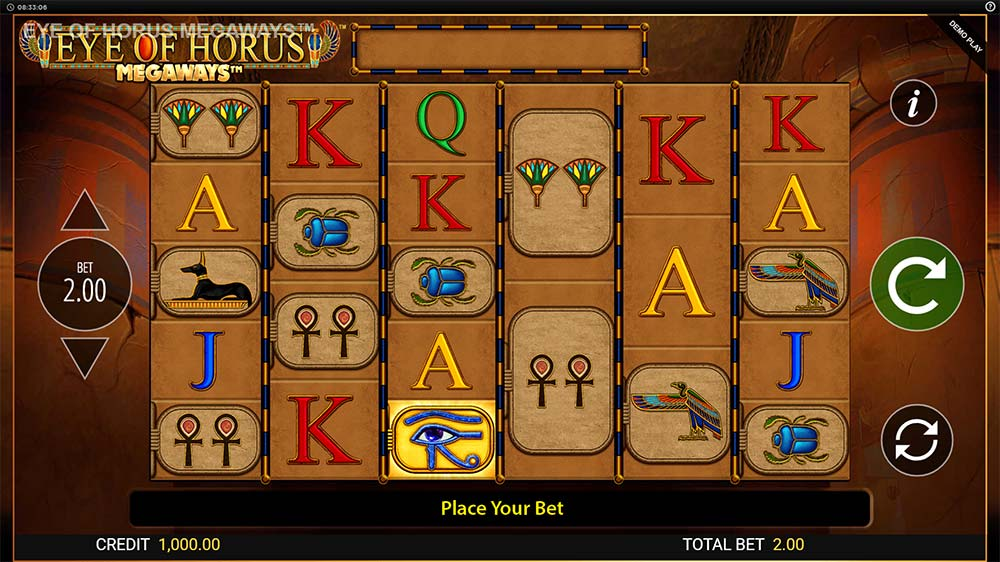 Eye of Horus Megaways Slot - Base Game