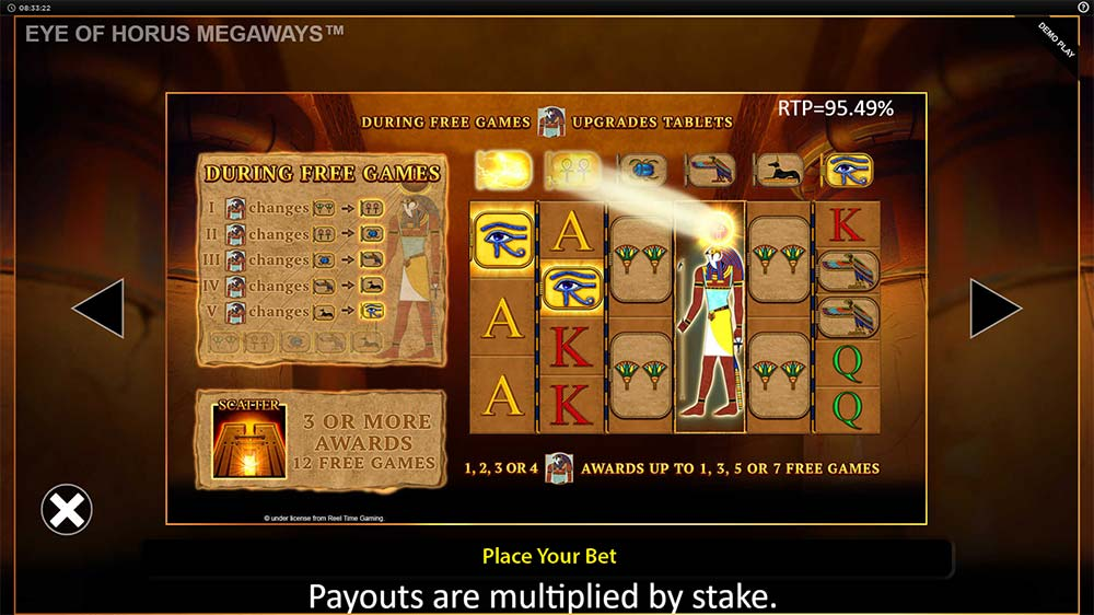 Eye of Horus Megaways Slot - Bonus Feature