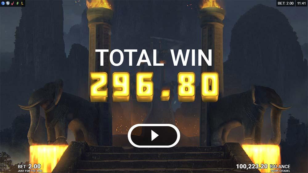 Ivory Citadel Slot - Bonus End