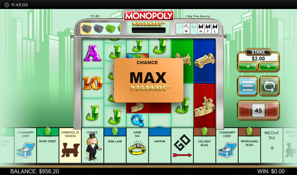 Monopoly Megaways Slot - Max Megaways Feature