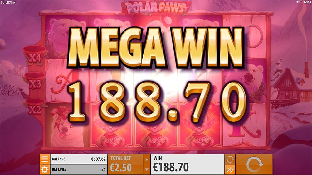 Polar Paws Slot - Mega Win
