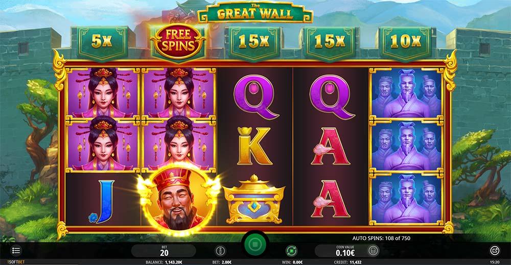 The Great Wall Slot - Bonus Trigger