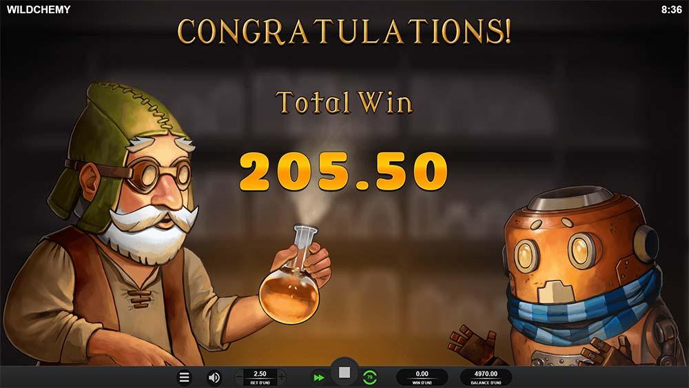 Wildchemy Slot - Bonus End