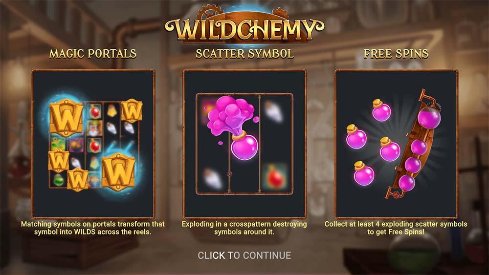 Wildchemy Slot - Intro Screen