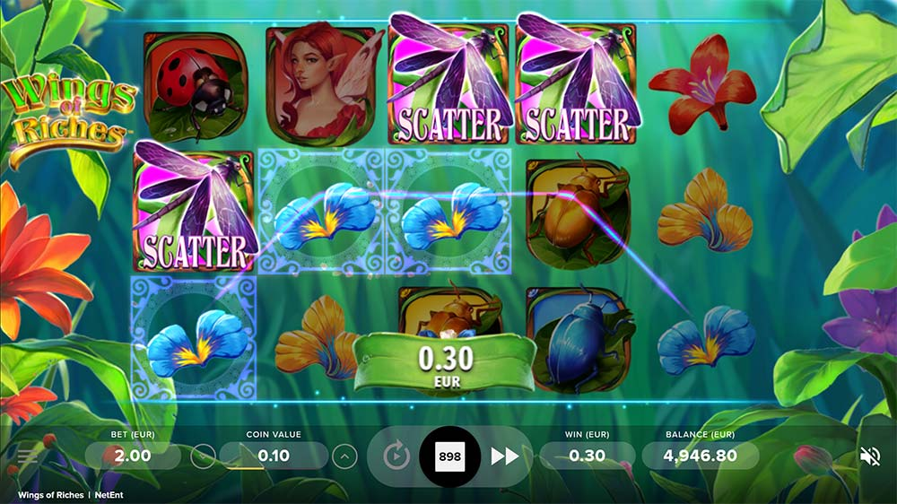 Wings of Riches Slot - Bonus Triggered