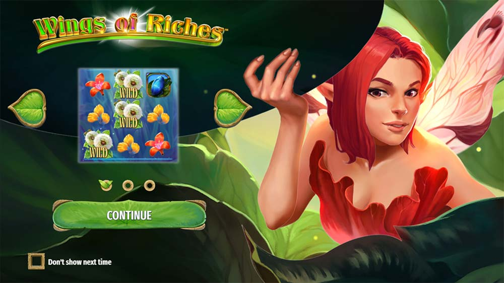 Wings of Riches Slot - Intro Screen
