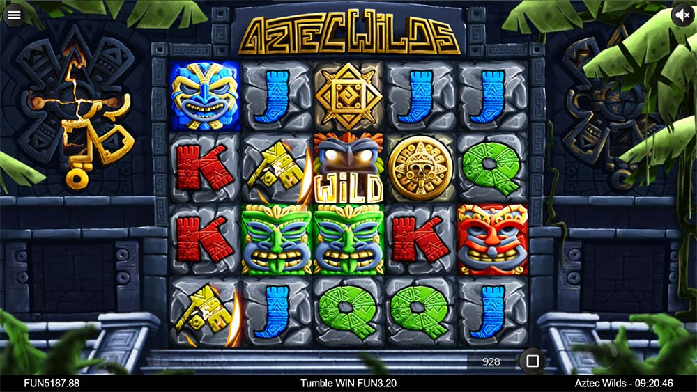 Aztec Wilds Slot - Sticky Wild Symbol