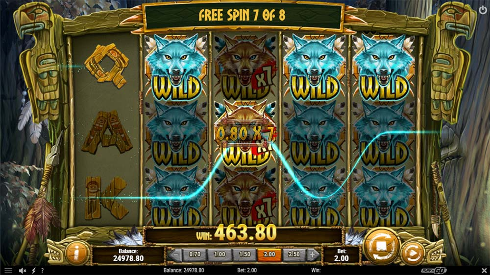 Coywolf Cash Slot - Multiplier 7x Wild