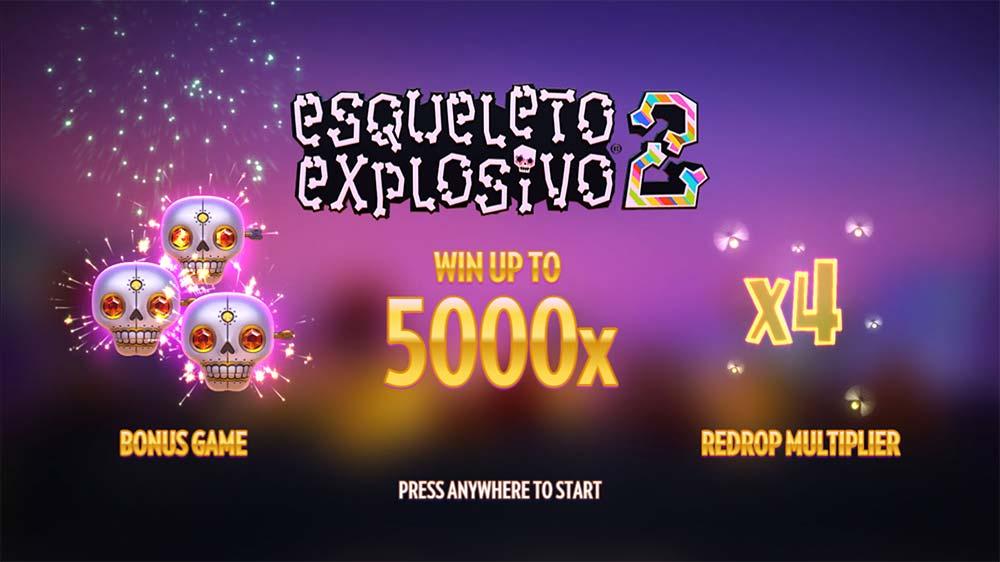 Esqueleto Explosivo 2 Slot - Intro Screen