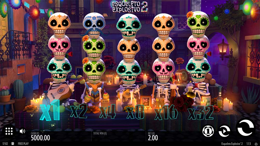 Esqueleto Explosivo 2 Slot - Base Game