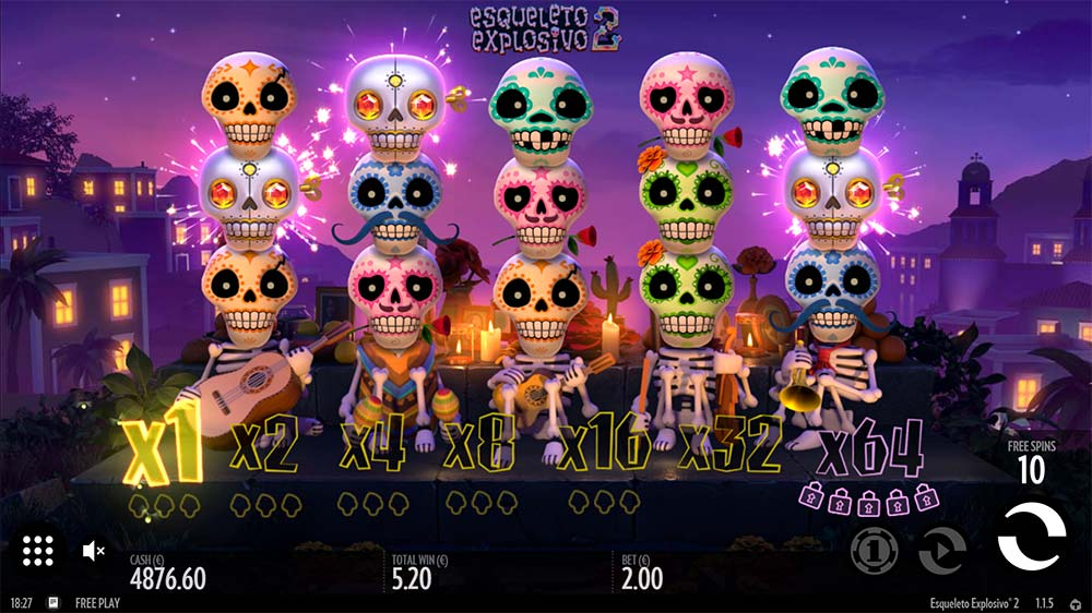 Esqueleto Explosivo 2 Slot - Free Spins