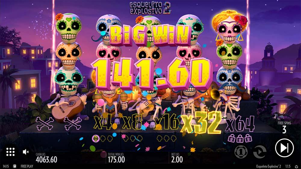 Esqueleto Explosivo 2 Slot - Big Win