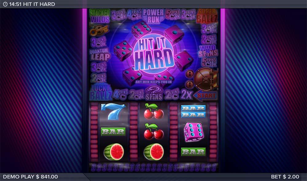 Hit it Hard Slot - Bonus Feature Triggered