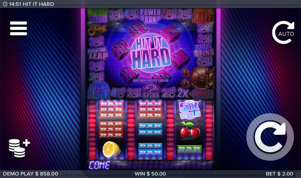 Hit it Hard Slot - 5x Multiplier Win