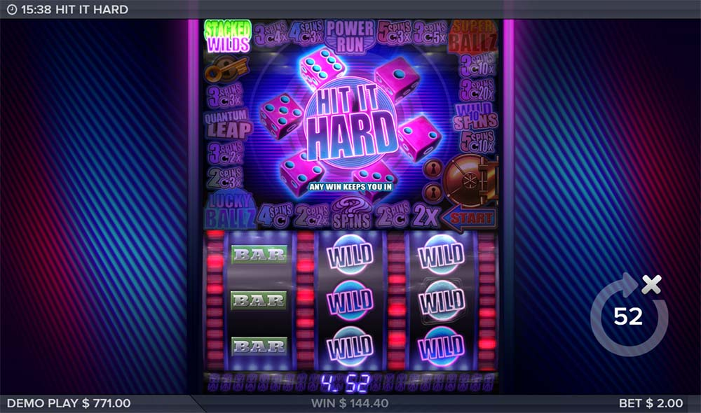 Hit it Hard Slot - Stacked WIlds Feature