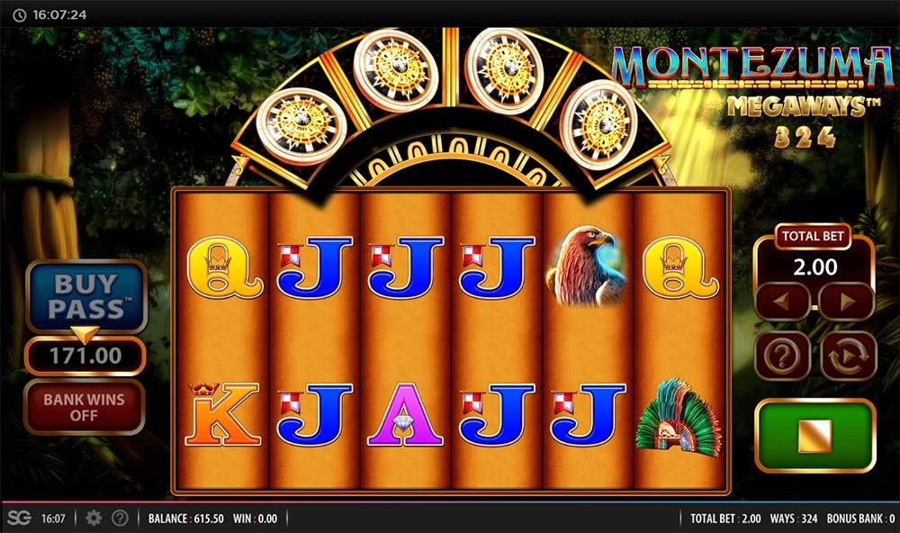 Montezuma Megaways Slot - Bonus Trigger