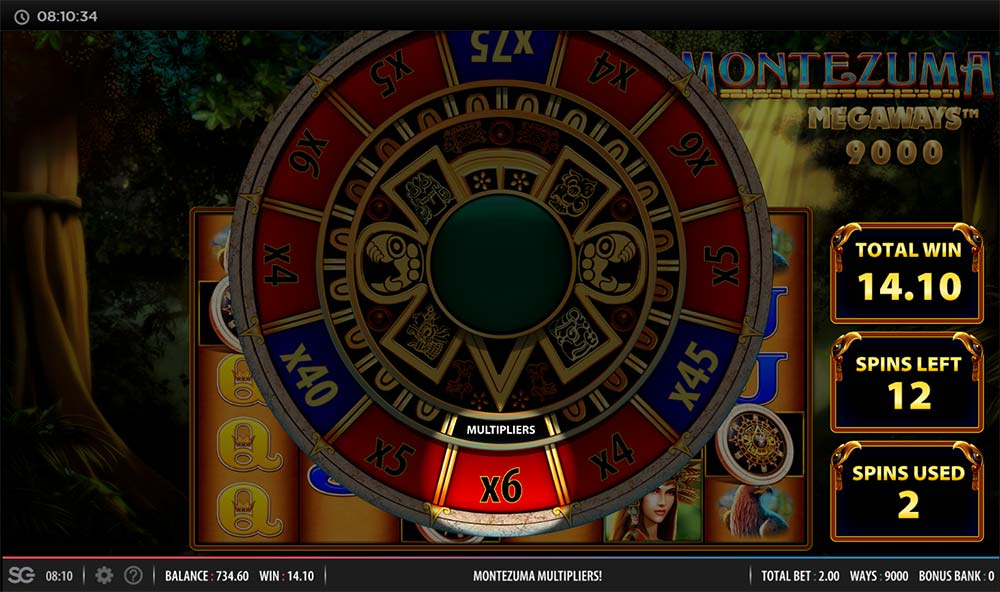 Montezuma Megaways Slot - Multiplier Wheel