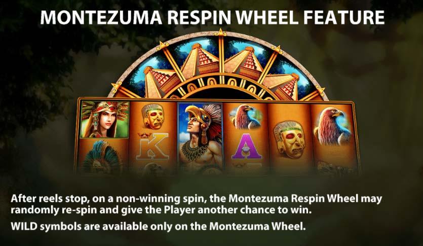 Montezuma Megaways Slot - Re-Spin Wheel Feature