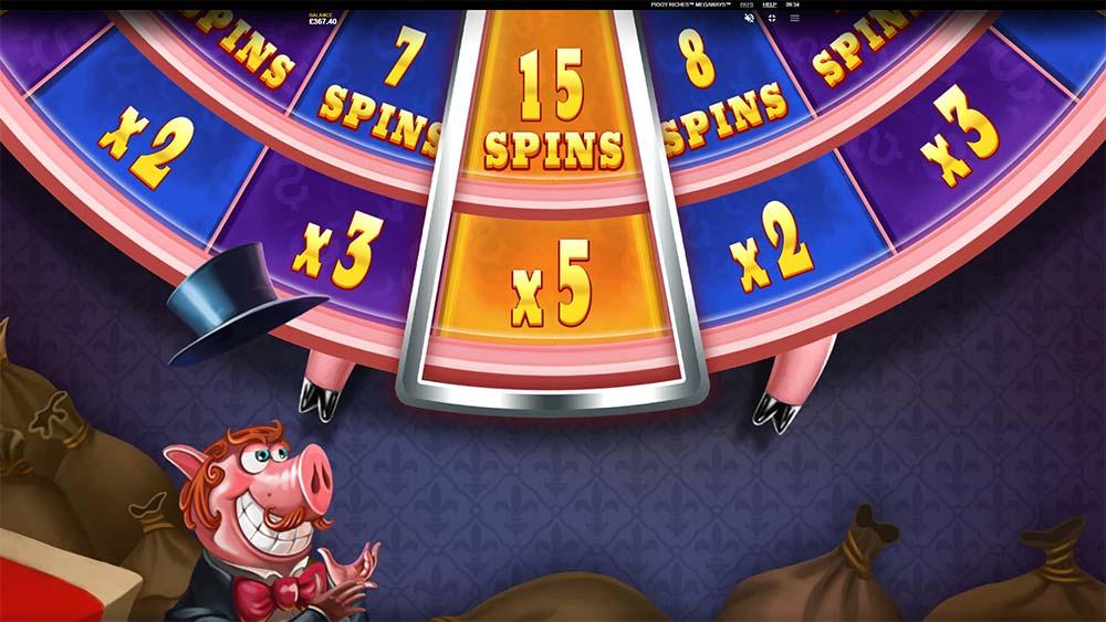 Piggy Riches Megaways Slot - Free Spins Bonus Wheel