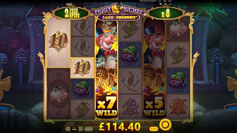 Piggy Riches Megaways Slot - Multiplier Wild Reels