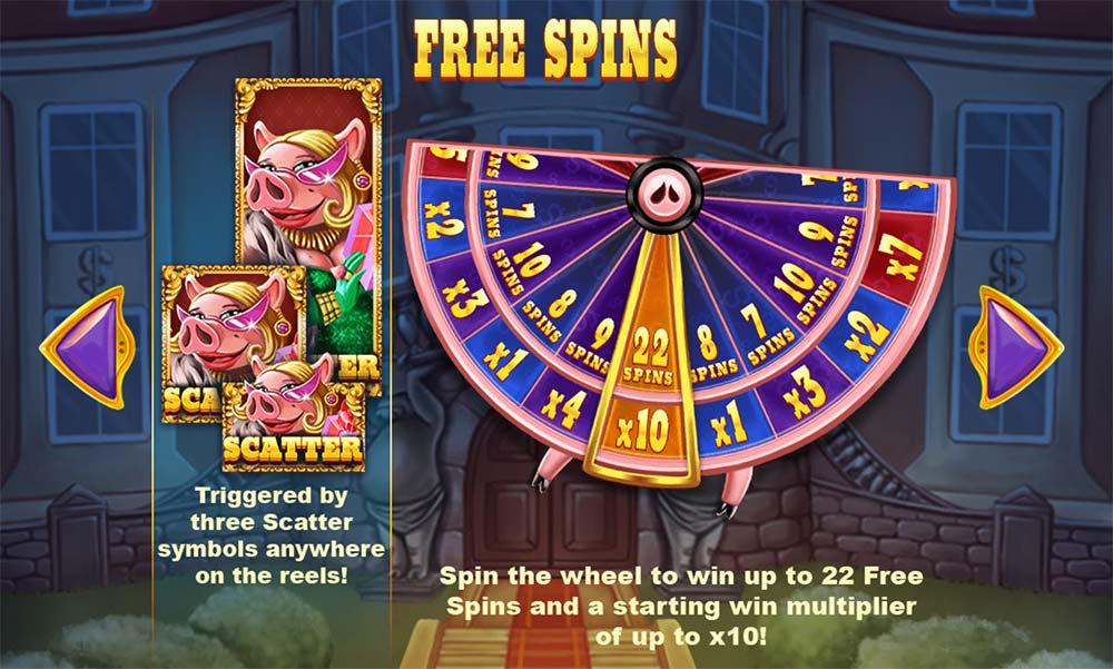 Piggy Riches Megaways Slot - Free Spins Wheel