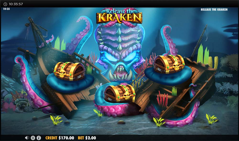 Release the Kraken Slot - Chest Bonus