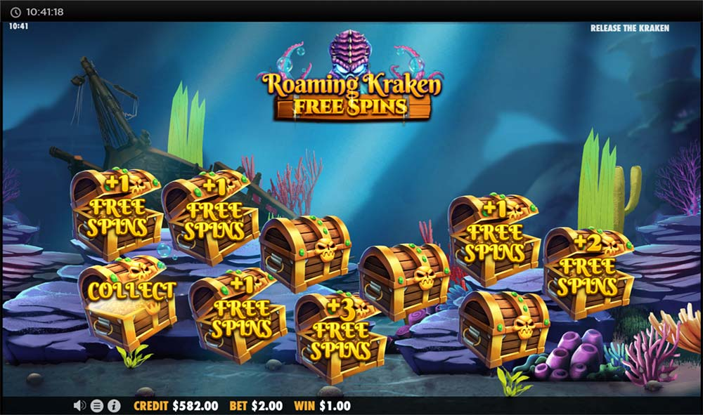 Release the Kraken Slot - Free Spins Start