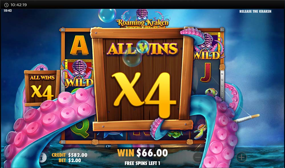 Release the Kraken Slot - Roaming Wild Free Spins