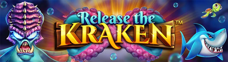 Release the Kraken Slot Logo