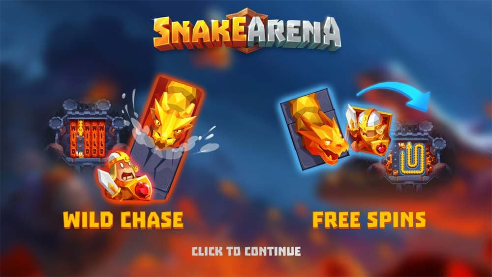 Snake Arena Slot - Intro Screen