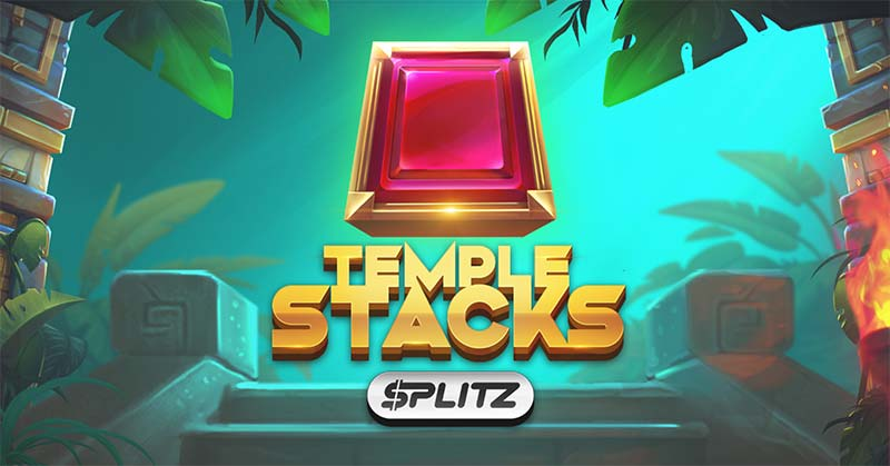 Temple Stacks Splitz Slot Logo