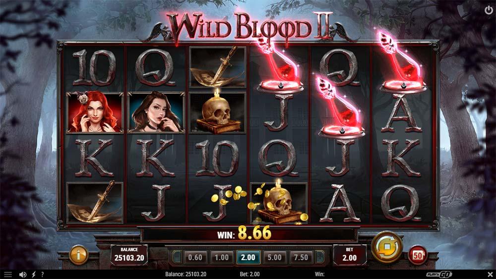 Wild Blood II Slot - Free Spins Triggered