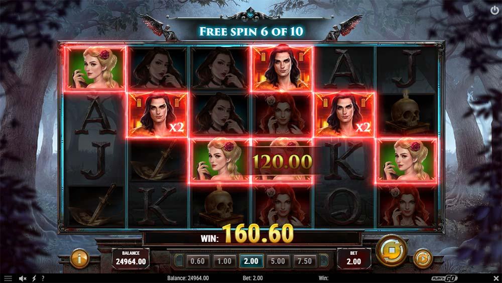 Wild Blood II Slot - Multiplier Wilds Free Spins