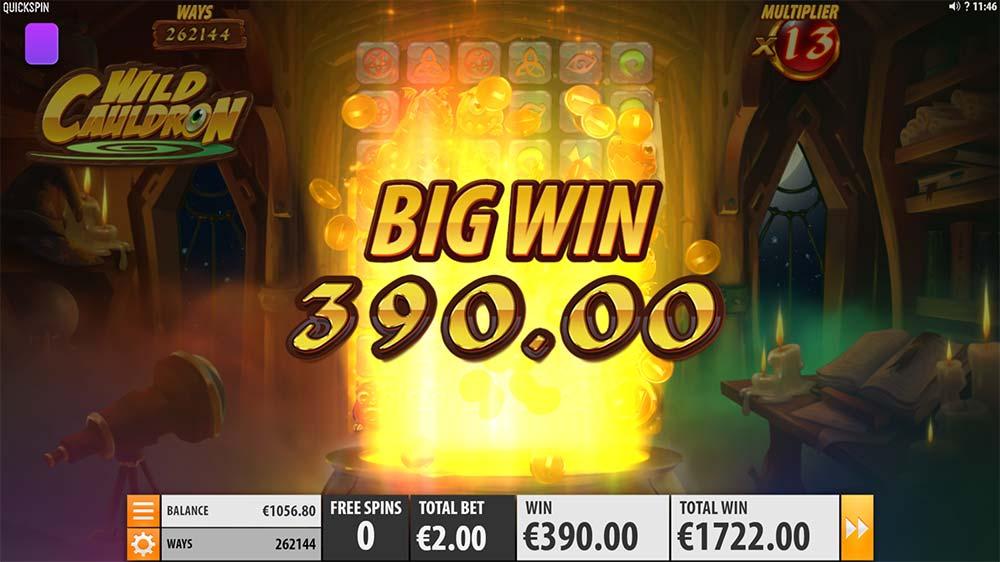 Wild Cauldron Slot - Big Win