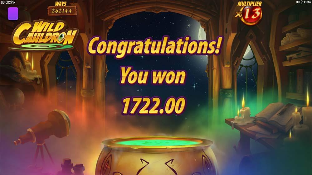 Wild Cauldron Slot - Bonus End
