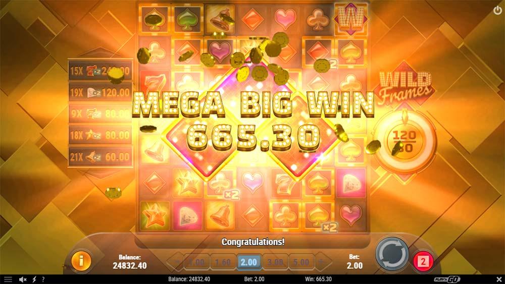 Wild Frames Slot - Mega Big Win