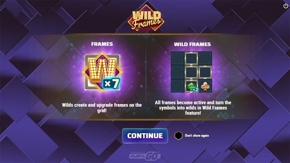 Wild Frames Slot - Intro Screen
