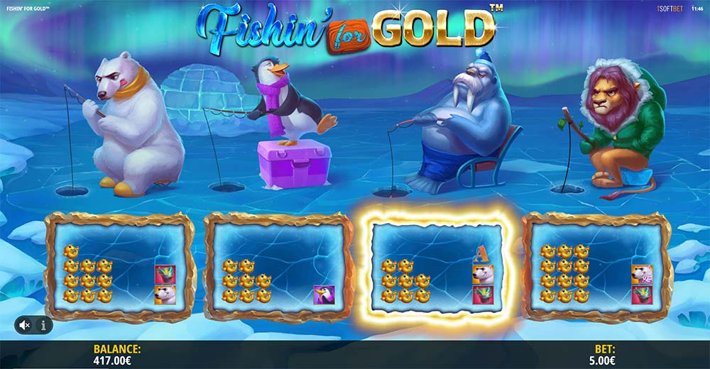 Fishing for gold slots