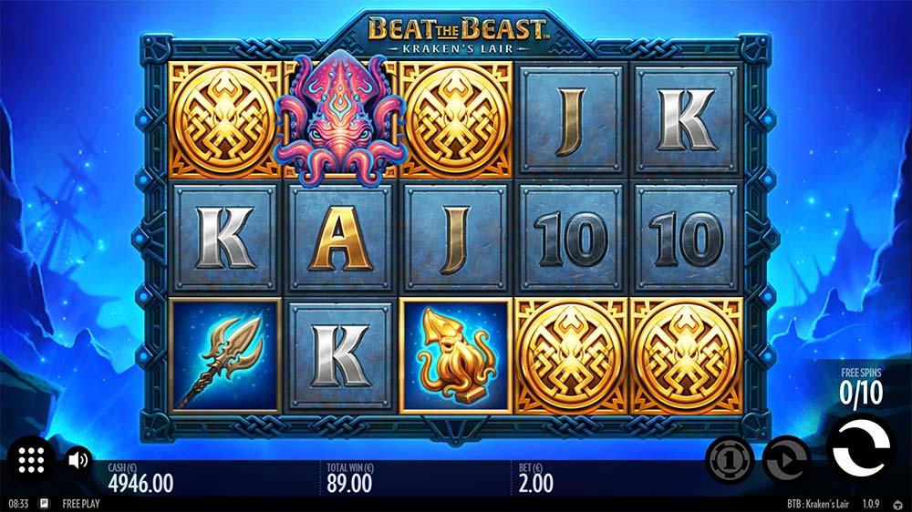 Kraken's Lair Slot - Bonus Trigger