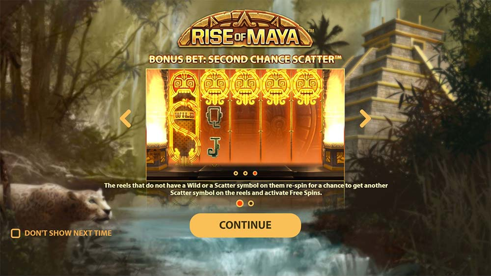 Rise of Maya Slot - Intro Screen