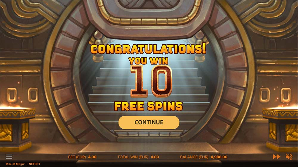 Rise of Maya Slot - Free Spins Start
