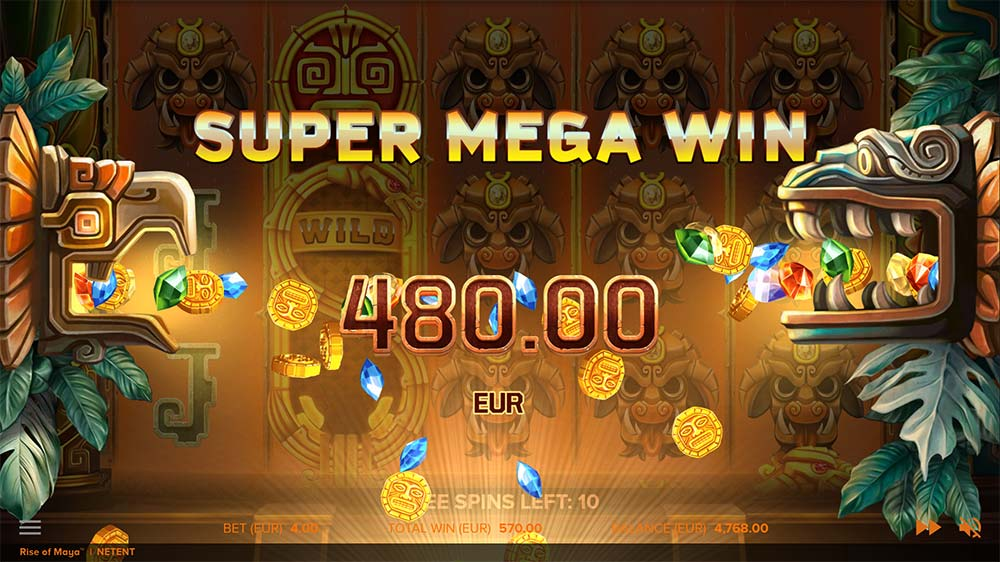 Rise of Maya Slot - Super Mega Win