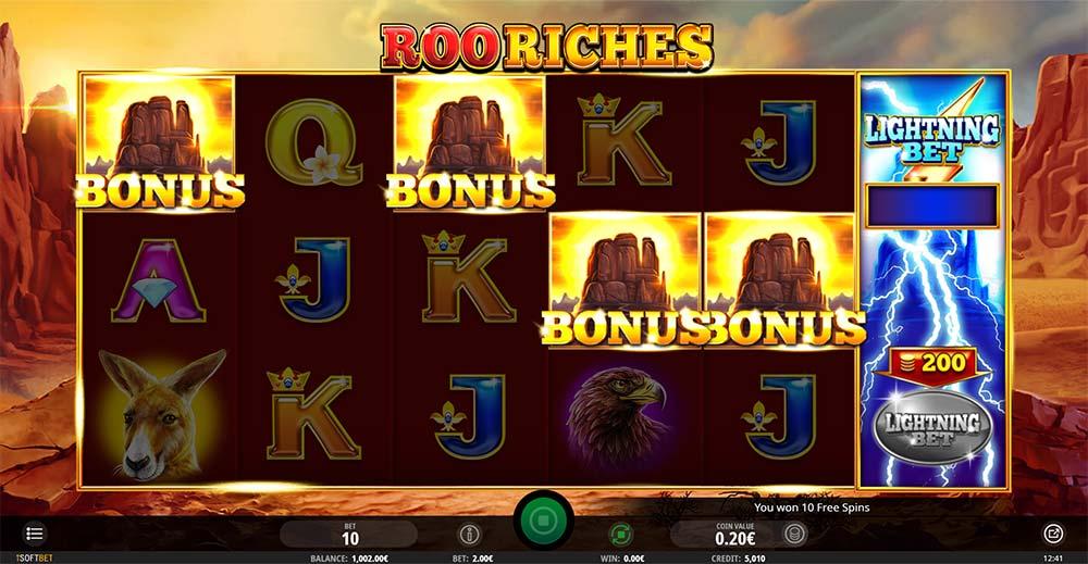 Roo Riches Slot - Bonus Triggered