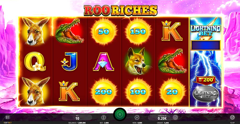 Roo Riches Slot - Cash Chip Spin